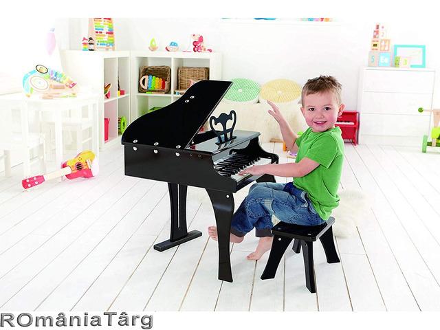 Pian de lemn pentru copii, scaun inclus - 1